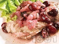 Черешова кавърма с пилешко месо